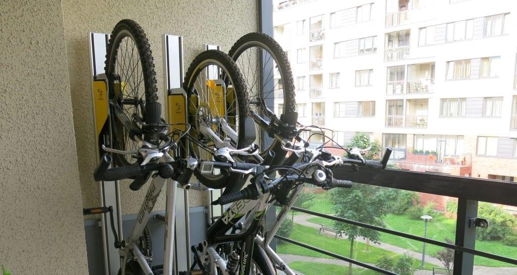 Bikes on balcony