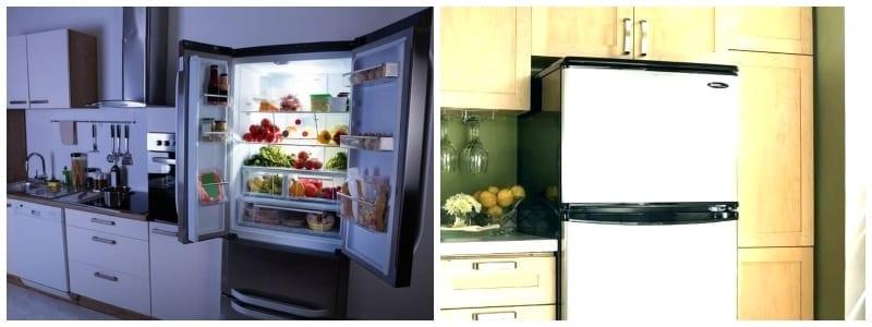 Comparison of fridges