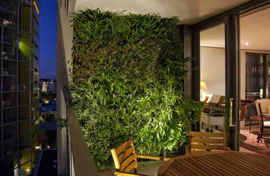 Balcony Green Wall