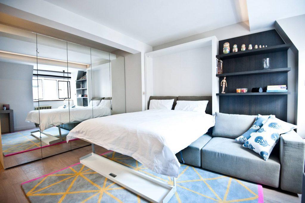Queen Bed Into A Studio Apartments