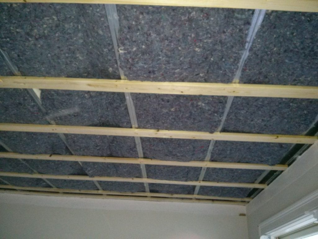 Sound proofing ceilings cotton